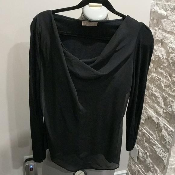 Two layer Black dress top